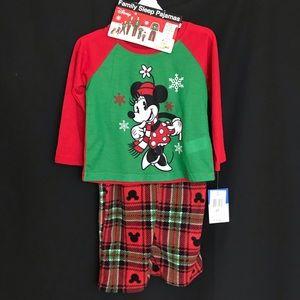 Disney Christmas Minnie Mouse Pajamas 2T Host Pick